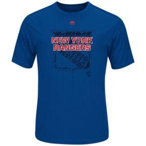Big & Tall Majestic New York Rangers Logo Tee