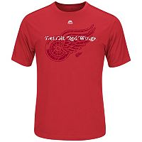 Big & Tall Majestic Detroit Red Wings Logo Tee