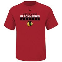Boys 8-20 Majestic Chicago Blackhawks Hockey Tee