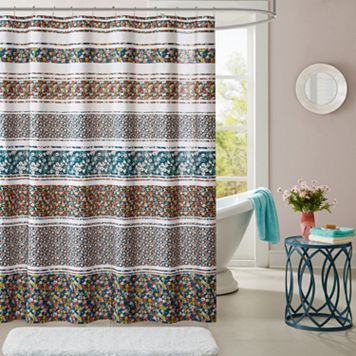 Intelligent Design Amelia Printed Shower Curtain
