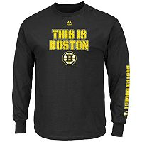 Boys 8-20 Majestic Boston Bruins Hockey Long-Sleeve Tee