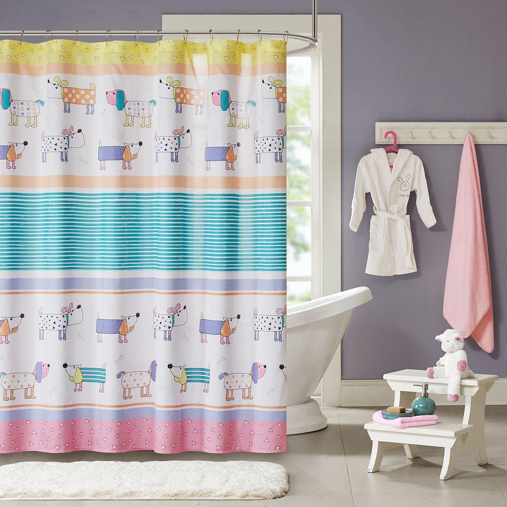 Mi Zone Kids Wriggle Printed Shower Curtain