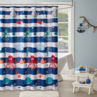Mi Zone Kids Under The Sea Printed Shower Curtain