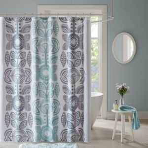 Urban Habitat Teo Printed Shower Curtain