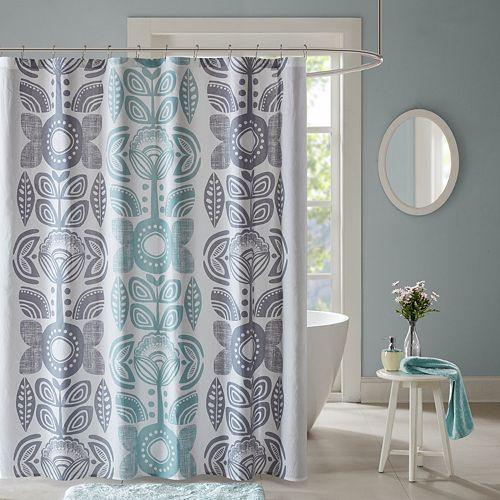 Urban Habitat Teo Printed Shower Curtain