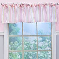 Nurture Crazy Daisy Pink Stripe Window Valance