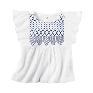 Baby Girl Carter's Embroidered Gauze Top