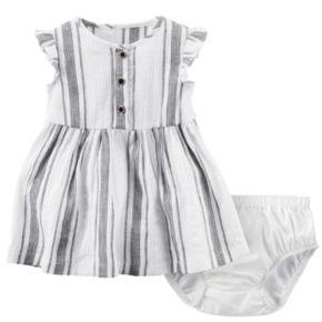 Baby Girl Carter's Striped Henley Dress