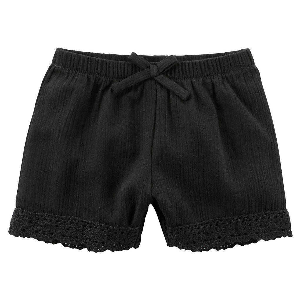 Baby Girl Carter's Crochet Gauze Shorts