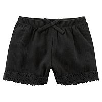 Baby Girl Carter's Crochet Gauze Shorts