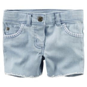 Baby Girl Carter's Frayed Denim Shorts