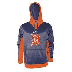 Men's Stitches Detroit Tigers Embossed Logo Hoodie