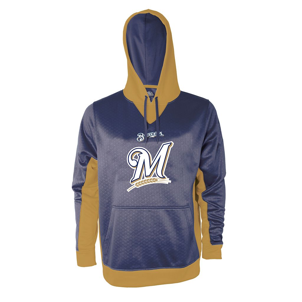 Men's Stitches Milwaukee Brewers Embossed Logo Hoodie