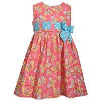 Toddler Girl Bonnie Jean Butterfly Print Poplin Sundress