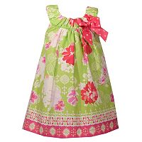 Toddler Girl Bonnie Jean Lime Green Floral Print Sundress