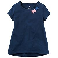 Baby Girl Carter's Short Sleeve Tulle Bow Embellished Tee