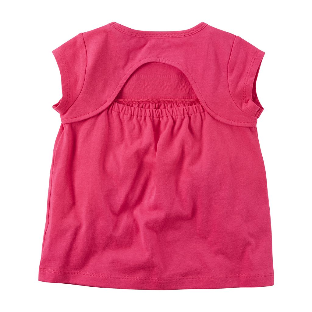 Baby Girl Carter's Puff-Print Yoke Cutout Top