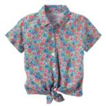 Baby Girl Carter's Floral Button-Down & Tie Front Top