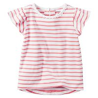 Baby Girl Carter's Flutter Sleeve Striped Top