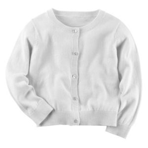 Girls 4-8 Carter's Rhinestone Button Cardigan