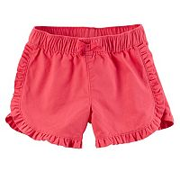 Toddler Girl Carter's Ruffled Trim Shorts