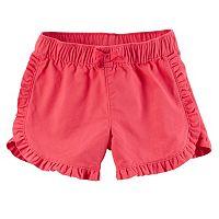 Baby Girl Carter's Ruffled Trim Shorts