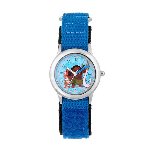 Disney's Moana, Pua, Heihei & Maui Kids' Stainless Steel Time Teacher Watch