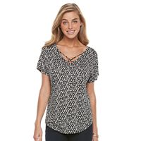 Women's Apt. 9® Strappy V-Neck Tee