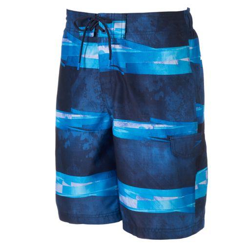 Men's Speedo VaporPLUS Setting Sun Striped Swim Trunks