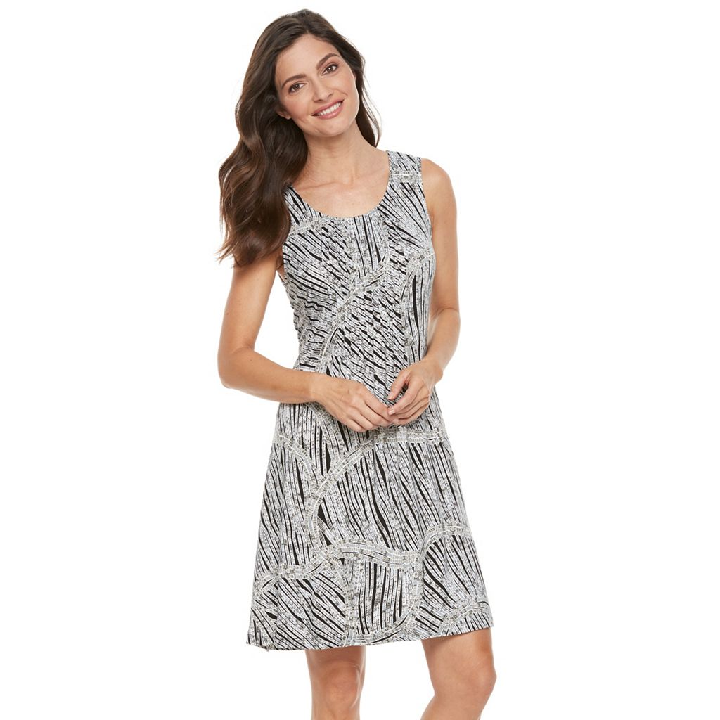 Women's Croft & Barrow® Pintuck Fit & Flare Dress