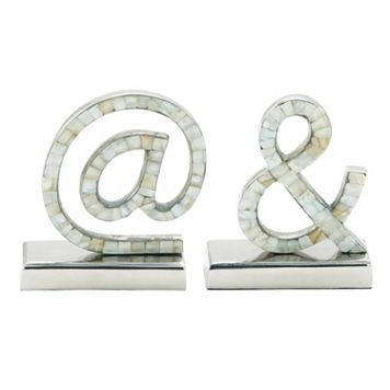 At Sign & Ampersand Bookends 2-piece Set