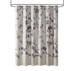 purple and grey shower curtain. Madison Park Isabella Cotton Shower Curtain  Purple Bath Curtains Kohl s