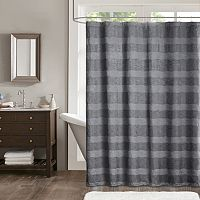 Madison Park Colton Jacquard Shower Curtain