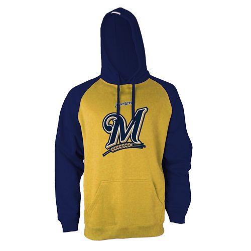 Men's Stitches Milwaukee Brewers Fleece Hoodie