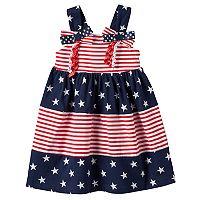 Toddler Girl Sophie Rose Patriotic Tiered Dress