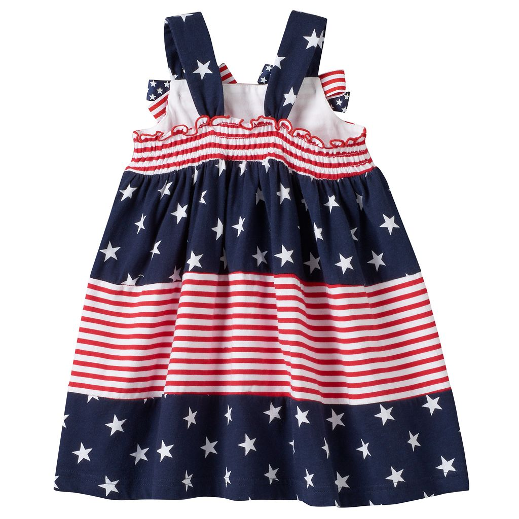 Toddler Girl Sophie Rose Patriotic Tiered Dress