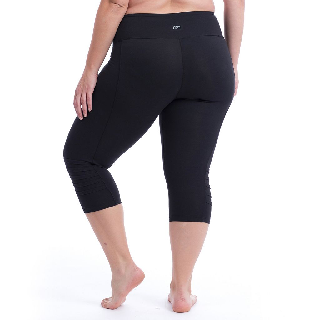 Plus Size Marika Curves Pleat Capri Leggings