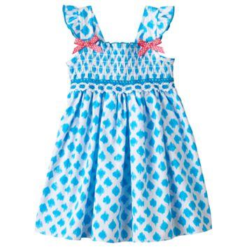 Toddler Girl Sophie Rose Smocked Dot Dress