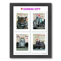 Americanflat 'Kansas City' Poster Framed Wall Art