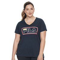 Plus Size FILA SPORT® Logo Graphic V-Neck Tee