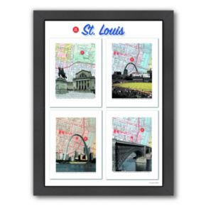 "Americanflat ""St. Louis"" Poster Framed Wall Art"