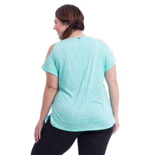 Plus Size Marika Curves Elsa Cold Shoulder Tee