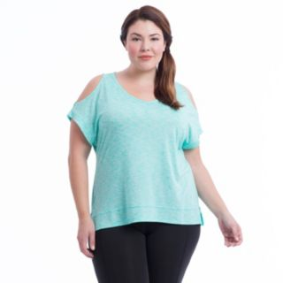 Plus Size Marika Curves Elsa Cold Shoulder Tee