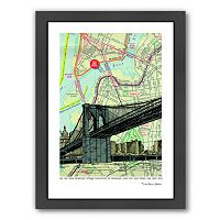 Americanflat Brooklyn Bridge NYC Framed Wall Art