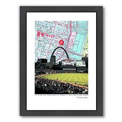 Americanflat Inside Busch Stadium Framed Wall Art