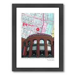 Americanflat Outside Busch Stadium Framed Wall Art