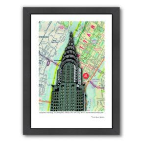 Americanflat Chrysler Building NYC Framed Wall Art