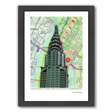 Americanflat Chrysler Building NYC Framed Wall Art