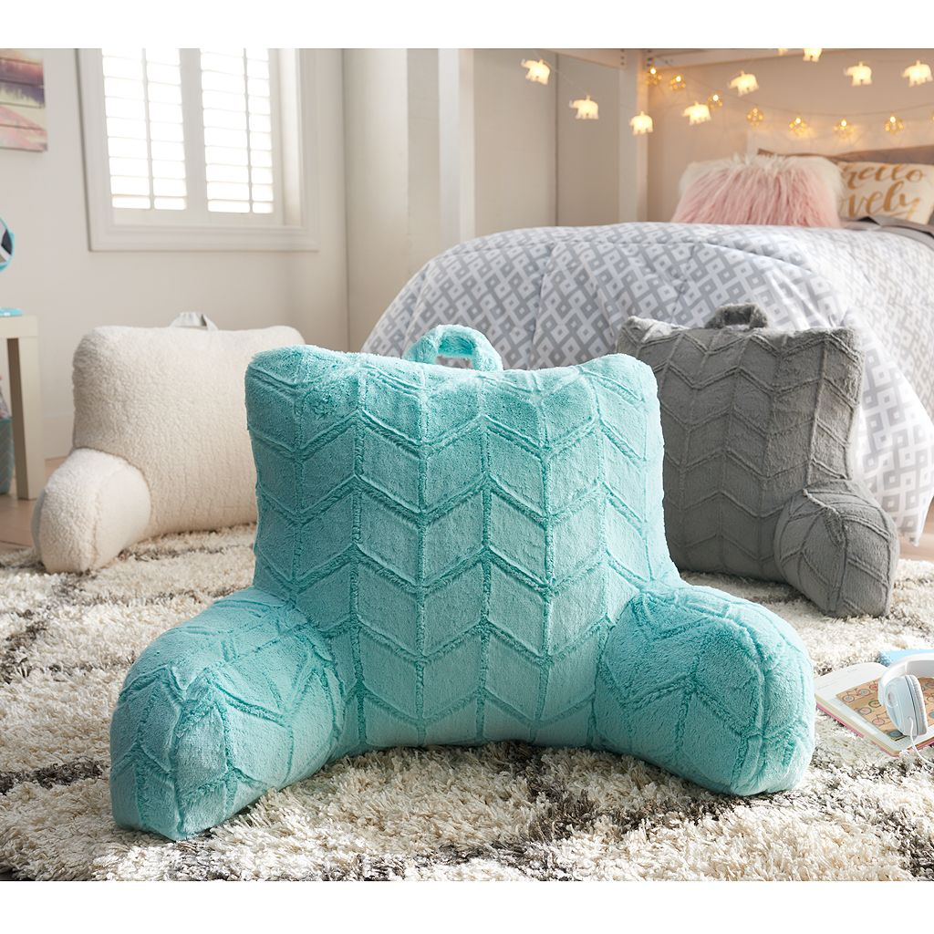 Simple By Design Microfiber Sherpa Backrest Pillow