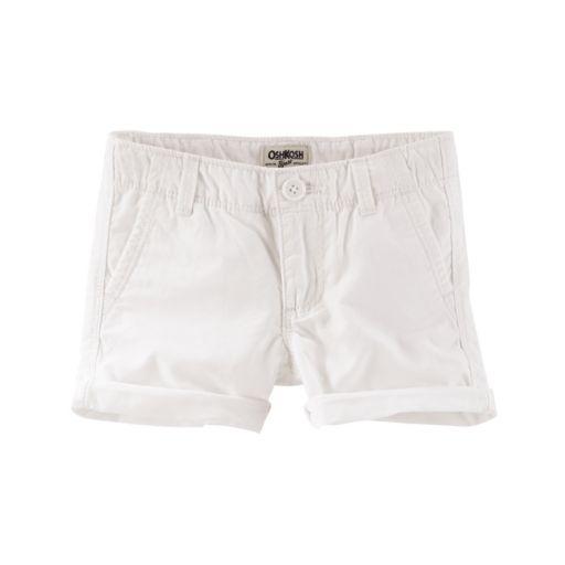 Toddler Girl OshKosh B'gosh® White Twill Shorts